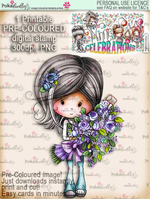 Winnie Celebrations 1... Big Bunch COLOUR digi stamp printable download