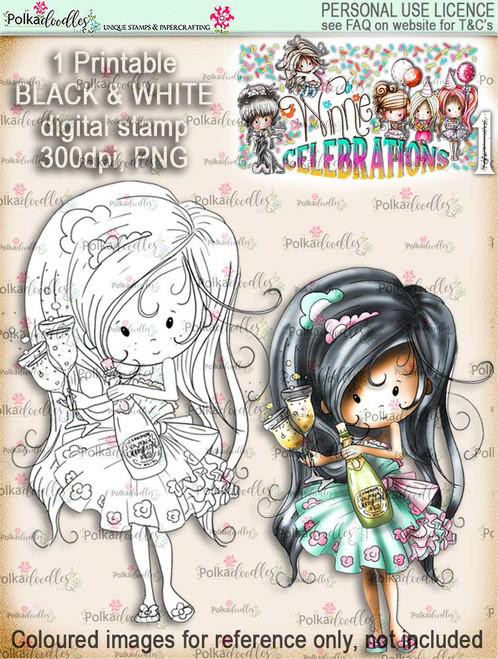 Winnie Celebrations 1...Anniversary digi stamp printable download