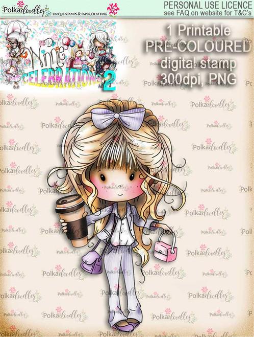 Winnie Celebrations 2...New Job COLOURED digi stamp printable download