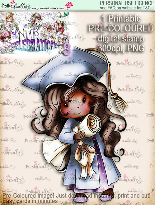 Winnie Celebrations 3...Graduation/You Passed/Well done COLOURED digi stamp printable download