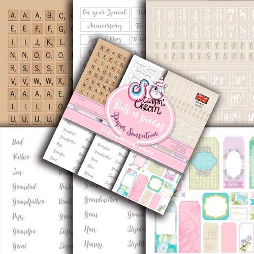 "Bits & Pieces 6 x 6"" Ephemera Paper Pad"
