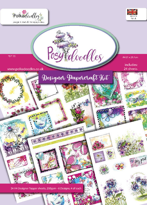 Blooming Posydoodles - 24 Design sheets A4