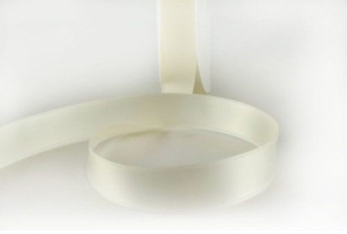 Eggshell/ivory Double Faced Satin Ribbon 25mm x 1 metre