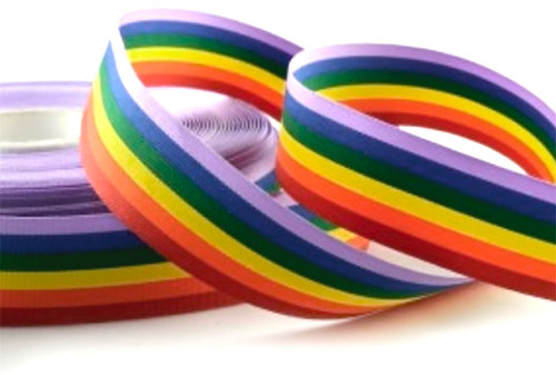 Rainbow/Unicorn ribbon 10mm x 1 metre