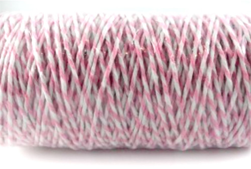 Pink/white Bakers Twine 1mm x 100 metres!