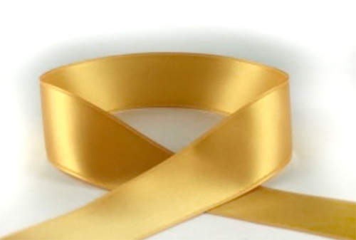 Gold Double Faced Satin Ribbon 3mm x 1 metre