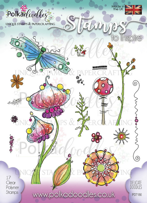 Delicate Doodles Clear Stamp Set