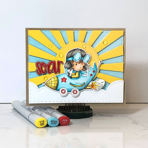 Rocket Car Little Dude  - Little Dudes digi stamp printable download