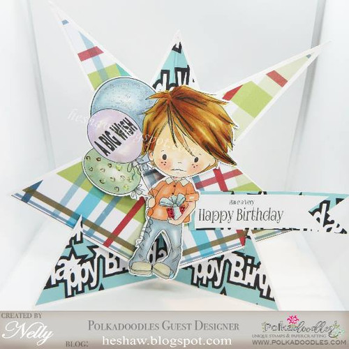 Party Little Dude - digi stamp printable download