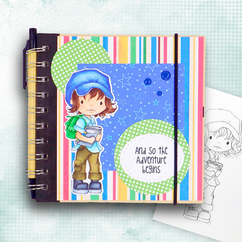 Student/School -PRECOLOURED  - Little Dudes digi stamp printable download