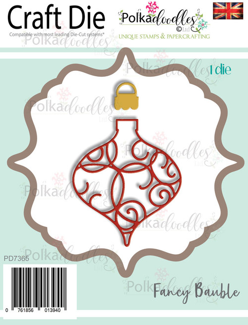 Fancy Intricate Bauble - Christmas Craft cutting die