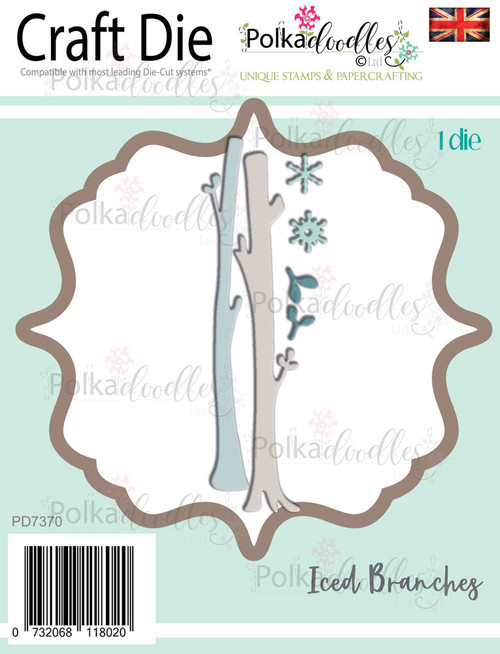 Iced Winter Snowflake tree branches - Craft cutting die