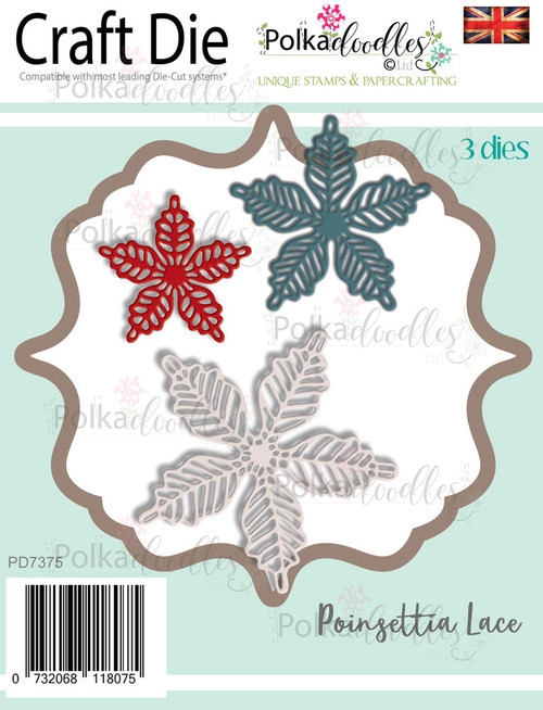 Poinsettia Lace - Craft cutting die