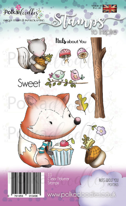 Nuts About You Woodland Fox Clear Stamp set