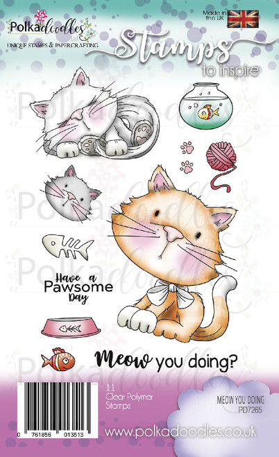 Meow You Doing Kitty Cat Clear Stamp set
