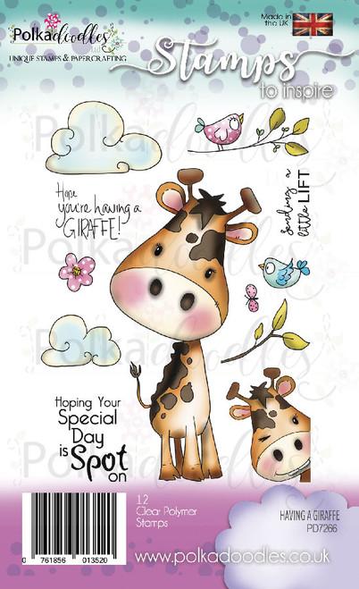 Having a Giraffe Clear Stamp set