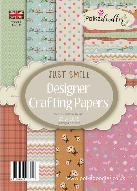 Just Smile A5 Paper Pack, 32 sheets