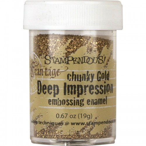 Frantage Chunky Gold Embossing Enamel by Stampendous