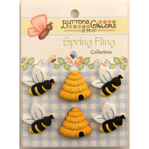 Honey Bees themed button pack