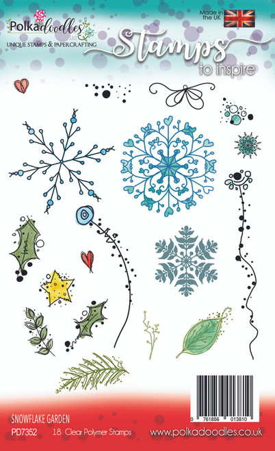 Snowflake Garden Stamp Set - 18 Clear Stamps