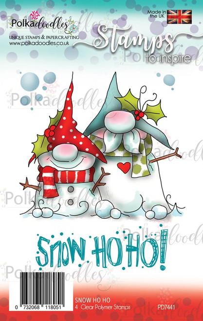 Gnome-men Snow Ho ho clear Polymer stamp set