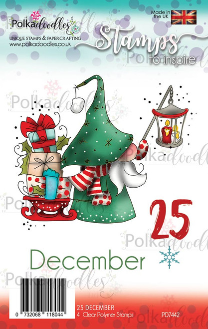 Gnome Clear Polymer Stamp set - 25 December