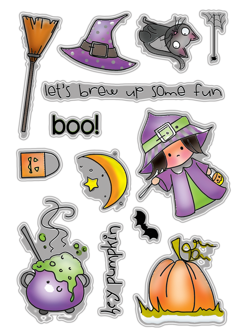 Hey Pumpkin - Halloween clear stamp set