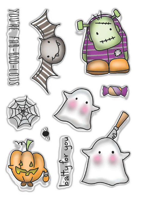 Fab-boo-lous - Halloween clear stamp set