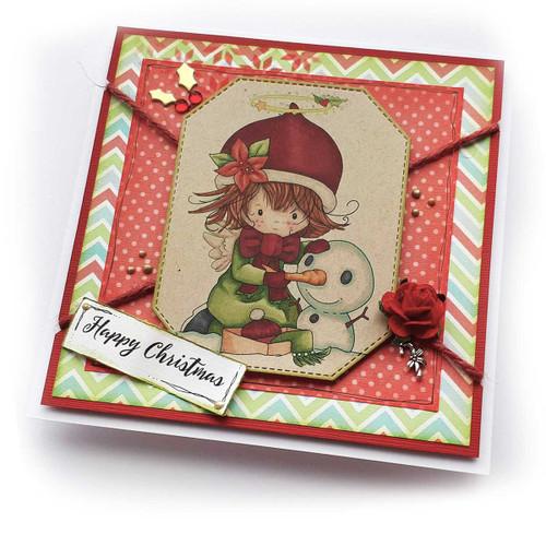 Snowman - Winnie Angel digital stamp download printable
