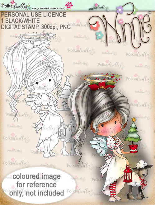 Little Tree - Winnie Angel digital stamp download