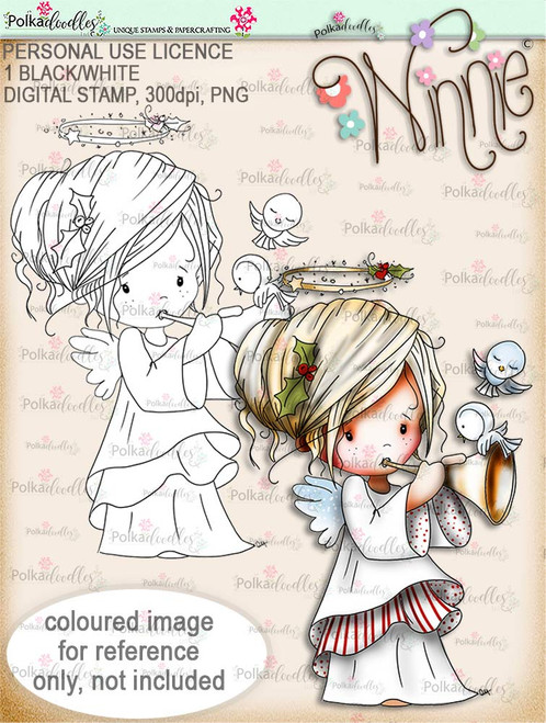 Tweet Sounds - Winnie Angel digital stamp download