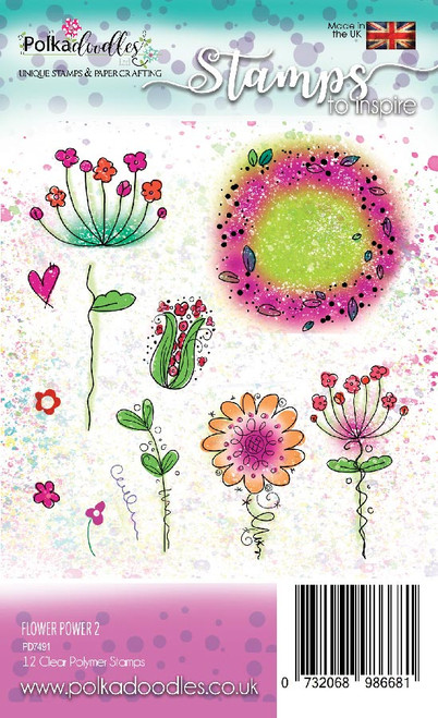 Flower Power 2 - clear stamp set