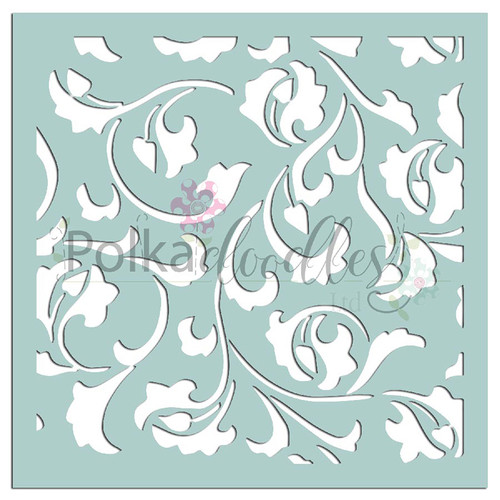 "Damask Delights - 6 x 6"" creative craft mixed media stencil"