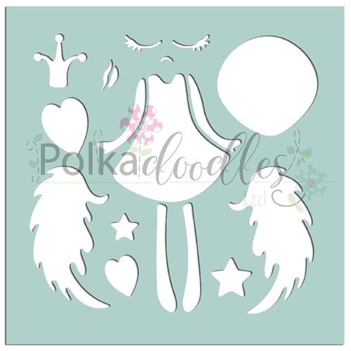 "Creative Angel - 6 x 6"" creative craft mixed media stencil"