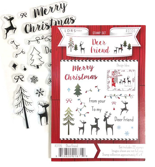 Deer Friend Winter Holiday - clear stamp set