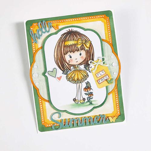 Butterfly Winnie - Rubber Stamp