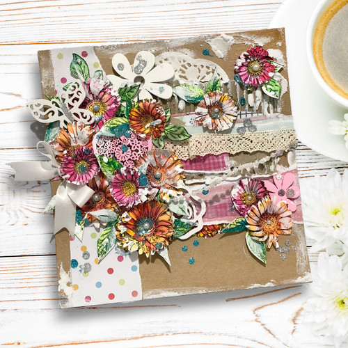 Hello Friend A5 clear Stamp set. Stunning A5 sized Clear Polymer Stamp set - 16 stamps. Made in the UK