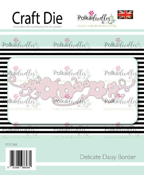 Delicate Daisy Border craft cutting die