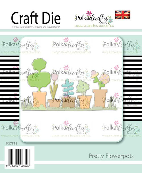 Pretty Flowerpots craft cutting die