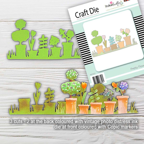 Pretty Flowerpots craft cutting die