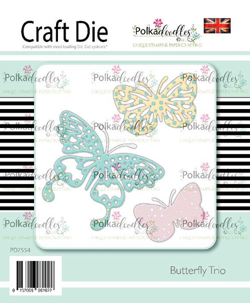 Butterfly Trio - 3 craft cutting dies