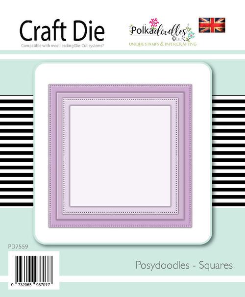 Posydoodles Basics - Squares dies