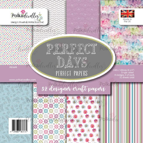 "Perfect Days 6 x 6"" craft paper pack"