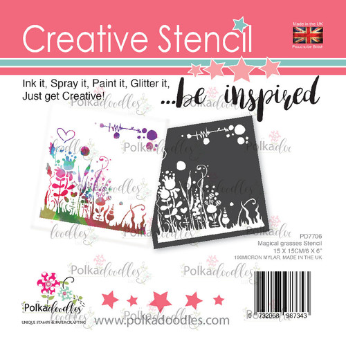 Magical Grasses creative craft stencil