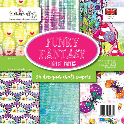 "Funky Fantasy 6 x 6"" backing paper pack"