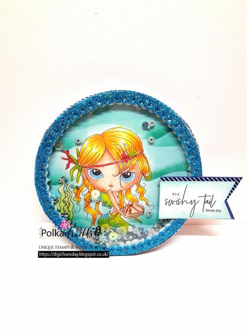 Ula Swishy Tail - Clear Polymer Stamp set