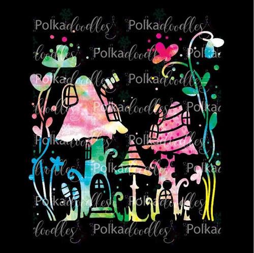 Magic Toadstools - creative craft stencil