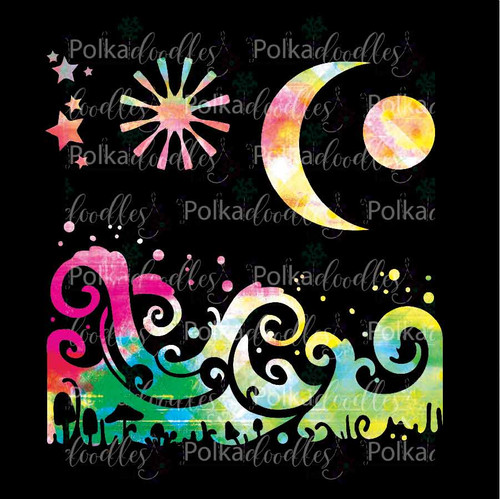 Magic Moon - creative craft stencil