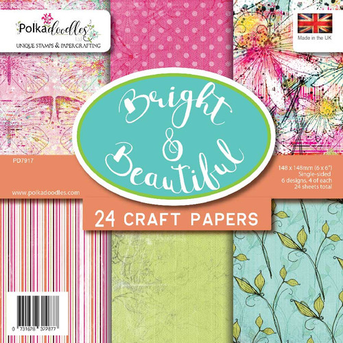 """New Polkadoodles 6/"""" x 6/""""  Craft Papers Halloween Trick or Treat"""