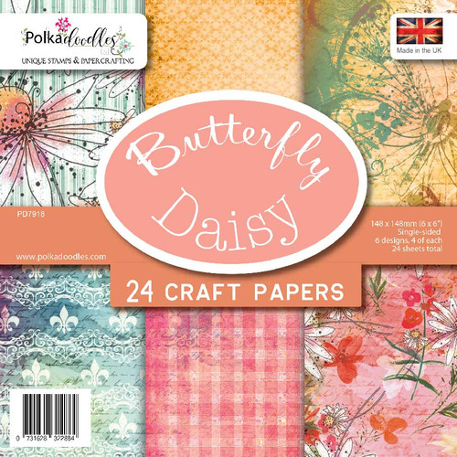 "Butterfly Daisy 6 x 6"" paper pack"